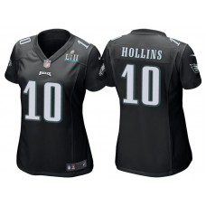 Women's Philadelphia Eagles #10 Mack Hollins Black Super Bowl LII Bound Game Jersey