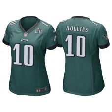 Women's Philadelphia Eagles #10 Mack Hollins Green Super Bowl LII Bound Game Jersey