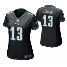 Women's Philadelphia Eagles #13 Nelson Agholor Black Game Jersey