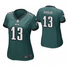 Women's Philadelphia Eagles #13 Nelson Agholor Green Game Jersey