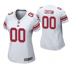 Women's New York Giants White Game Customized Jersey