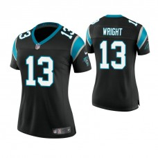 Women's Carolina Panthers #13 Jarius Wright Black Game Jersey