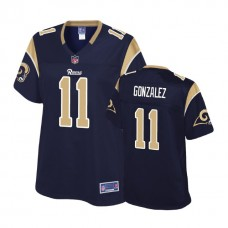 Women's Los Angeles Rams #11 LaQuvionte Gonzalez Navy Pro Line Player Jersey
