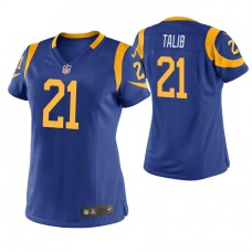 Women's Los Angeles Rams #21 Aqib Talib Royal Game Jersey