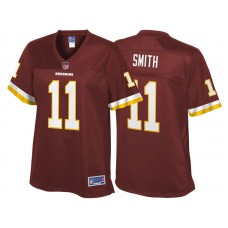 Women's Washington Redskins #11 Alex Smith Burgundy Pro Line Team Color Jersey