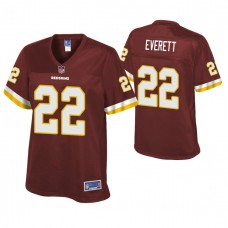 Women's Washington Redskins #22 Deshazor Everett Burgundy Pro line Player Jersey