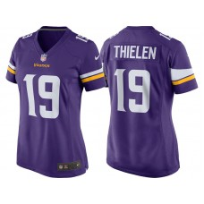 Women's Minnesota Vikings #19 Adam Thielen Purple Game Jersey