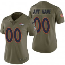 Women's Denver Broncos Olive 2017 Salute to Service Limited Customized Jersey