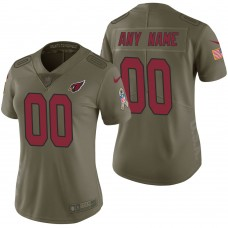 Women's Arizona Cardinals Olive 2017 Salute to Service Limited Customized Jersey