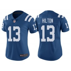 Women's Indianapolis Colts #13 T.Y. Hilton Royal Vapor Untouchable Color Rush Limited Jersey
