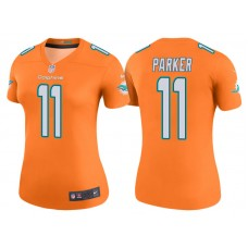 Women's Miami Dolphins #11 DeVante Parker Orange Color Rush Legend Jersey