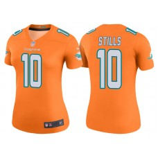 Women's Miami Dolphins #10 Kenny Stills Orange Color Rush Legend Jersey