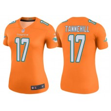 Women's Miami Dolphins #17 Ryan Tannehill Orange Color Rush Legend Jersey