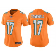 Women's Miami Dolphins #17 Ryan Tannehill Orange Vapor Untouchable Color Rush Limited Jersey