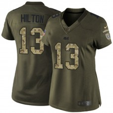 Women's Indianapolis Colts #13 T.Y. Hilton Green Salute To Service Jersey