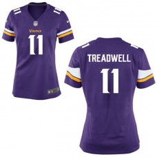 Women's Minnesota Vikings #11 Laquon Treadwell Purple Game Jersey