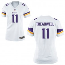 Women's Minnesota Vikings #11 Laquon Treadwell White Game Jersey