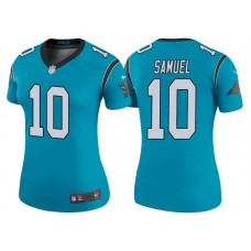 Women's Carolina Panthers #10 Curtis Samuel Blue Color Rush Legend Jersey