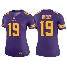 Women's Minnesota Vikings #19 Adam Thielen Purple Color Rush Legend Jersey