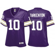 Women's Minnesota Vikings #10 Fran Tarkenton Purple Retired Player Jersey
