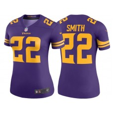 Women's Minnesota Vikings #22 Harrison Smith Purple Color Rush Legend Jersey