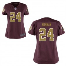 Women's Washington Redskins #24 Josh Norman Burgundy Alternate Game Jersey