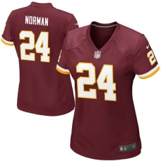 Women's Washington Redskins #24 Josh Norman Burgundy Home Game Jersey
