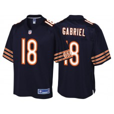 Youth Chicago Bears #18 Taylor Gabriel Navy Team Color Player Jersey