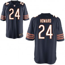 Youth Chicago Bears #24 Jordan Howard Navy Game Jersey