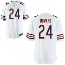 Youth Chicago Bears #24 Jordan Howard White Game Jersey