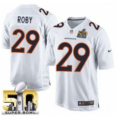 Youth Denver Broncos #29 Bradley Roby White Super Bowl 50 Game Event Jersey