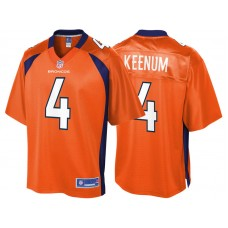 Youth Denver Broncos #4 Case Keenum Orange Pro Line Team Color Jersey