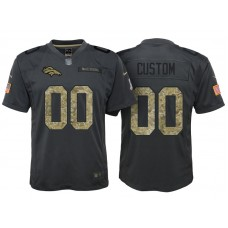 Youth Denver Broncos Anthracite Camo 2016 Salute to Service Customized Jersey
