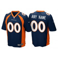 Youth Denver Broncos Navy Blue Game Customized Jersey