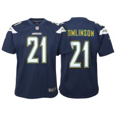 Youth Los Angeles Chargers #21 LaDainian Tomlinson Navy Retired Game Jersey