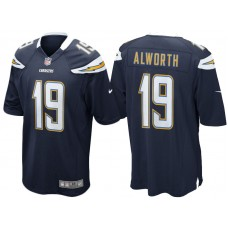Youth Los Angeles Chargers #19 Lance Alworth Navy Blue Retired Game Jersey