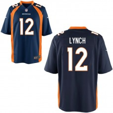 Youth Denver Broncos #12 Paxton Lynch Navy Blue Game Jersey
