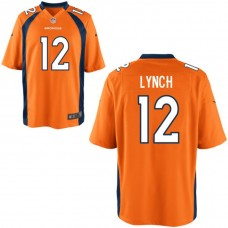 Youth Denver Broncos #12 Paxton Lynch Orange Game Jersey