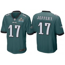 Youth Philadelphia Eagles #17 Alshon Jeffery Green Super Bowl LII Bound Game Jersey