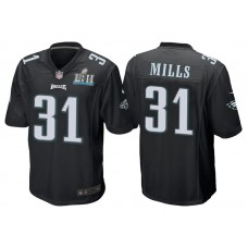 Youth Philadelphia Eagles #31 Jalen Mills Black Super Bowl LII Bound Game Jersey
