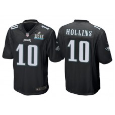 Youth Philadelphia Eagles #10 Mack Hollins Black Super Bowl LII Bound Game Jersey
