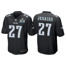 Youth Philadelphia Eagles #27 Malcolm Jenkins Black Super Bowl LII Bound Game Jersey