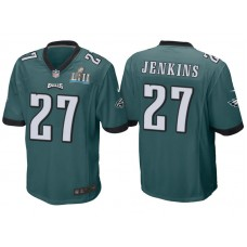Youth Philadelphia Eagles #27 Malcolm Jenkins Green Super Bowl LII Bound Game Jersey