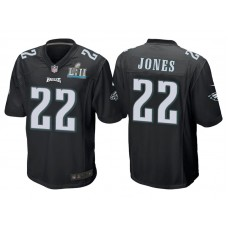 Youth Philadelphia Eagles #22 Sidney Jones Black Super Bowl LII Bound Game Jersey