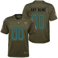 Youth Jacksonville Jaguars Olive 2017 Salute to Service Game Customized Jersey