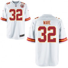 Youth Kansas City Chiefs #32 Spencer Ware White Game Jersey