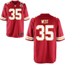 Youth Kansas City Chiefs #35 Charcandrick West Red Game Jersey
