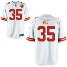 Youth Kansas City Chiefs #35 Charcandrick West White Game Jersey