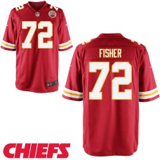 Youth Kansas City Chiefs #72 Eric Fisher Red Game Jersey