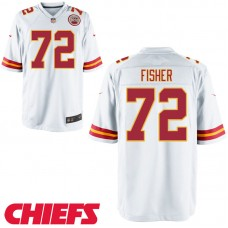 Youth Kansas City Chiefs #72 Eric Fisher White Game Jersey